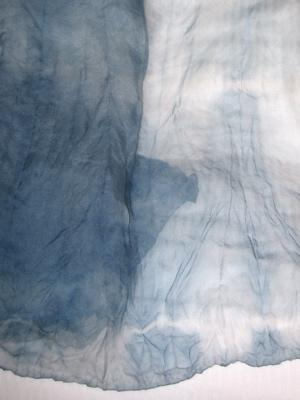 indigo silk organza