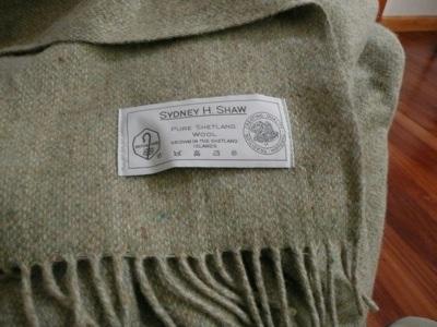 Shetland wool throw