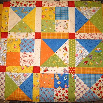 multicolor quilt